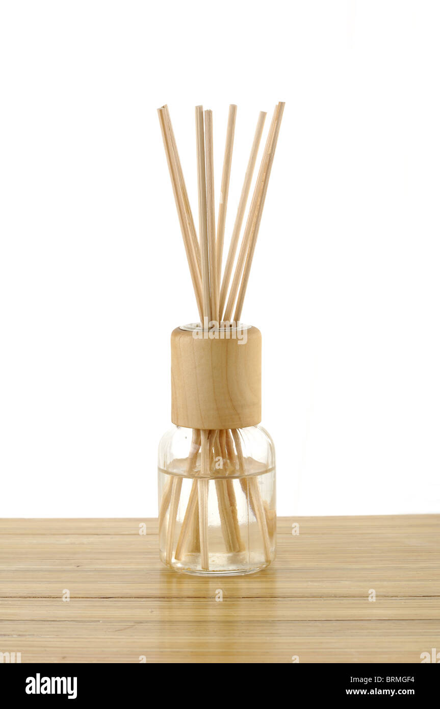 Close-up of sticks in a bottle in spa - Stock Image
