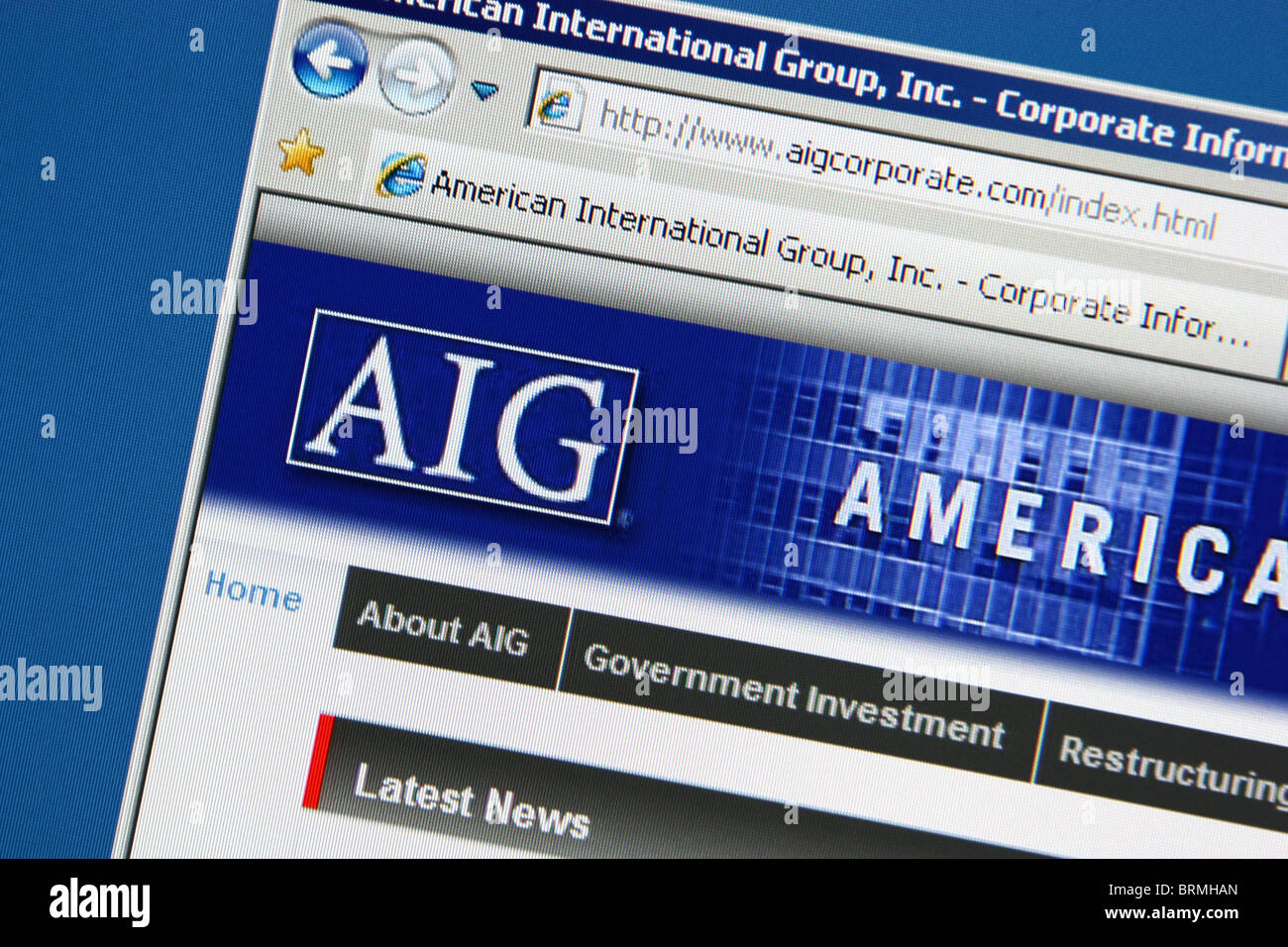 AIG insurance - Stock Image