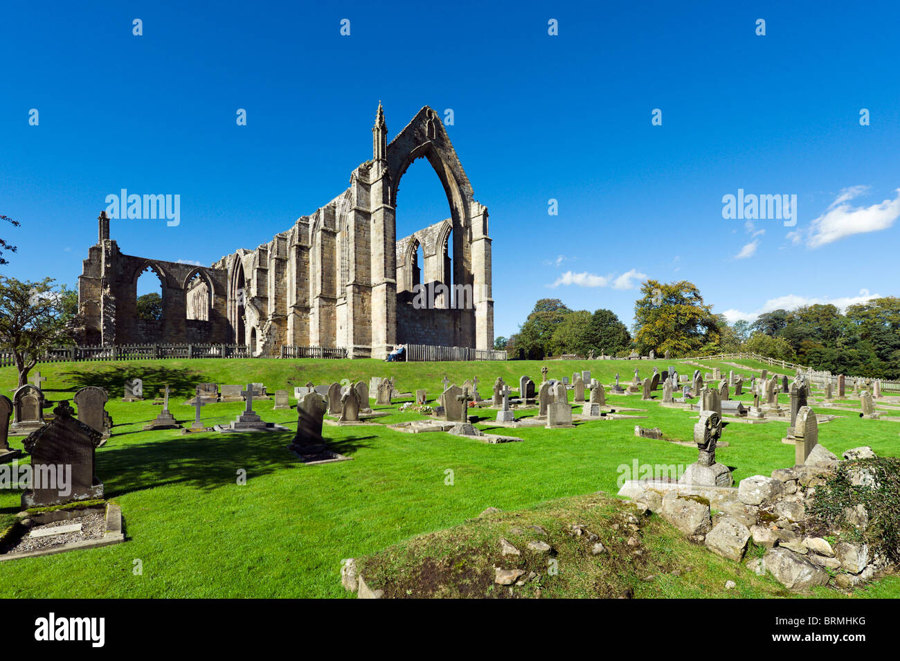Bolton Priory, Bolton Abbey, Wharfedale, Yorkshire Dales National Park, North Yorkshire, England, UK - Stock Image