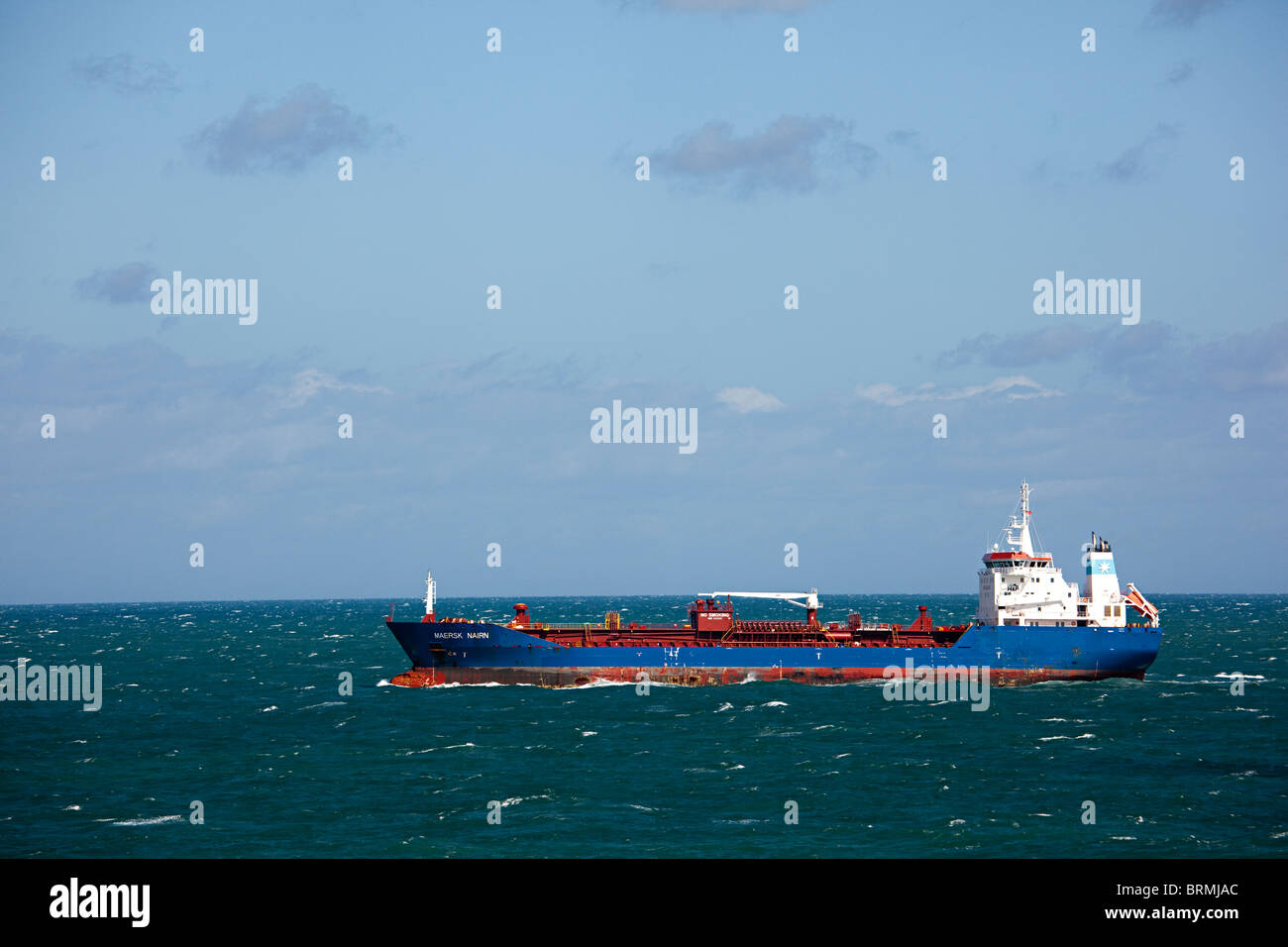 Maersk Nairn tanker in English Channel - Stock Image