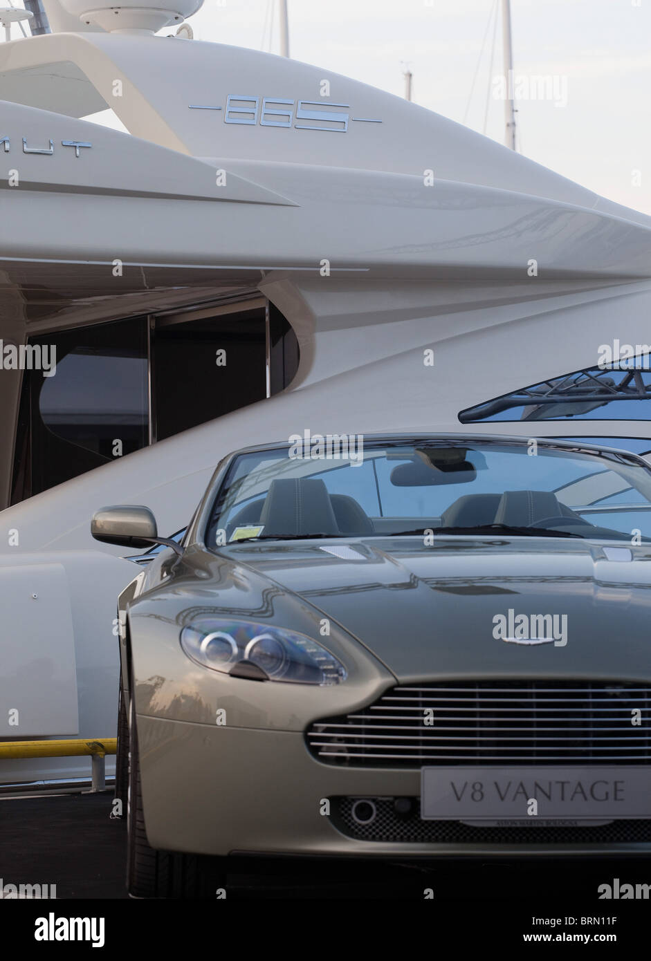 Aston Martin Luxury Car And Yacht Exibition Stock Photo 31809275
