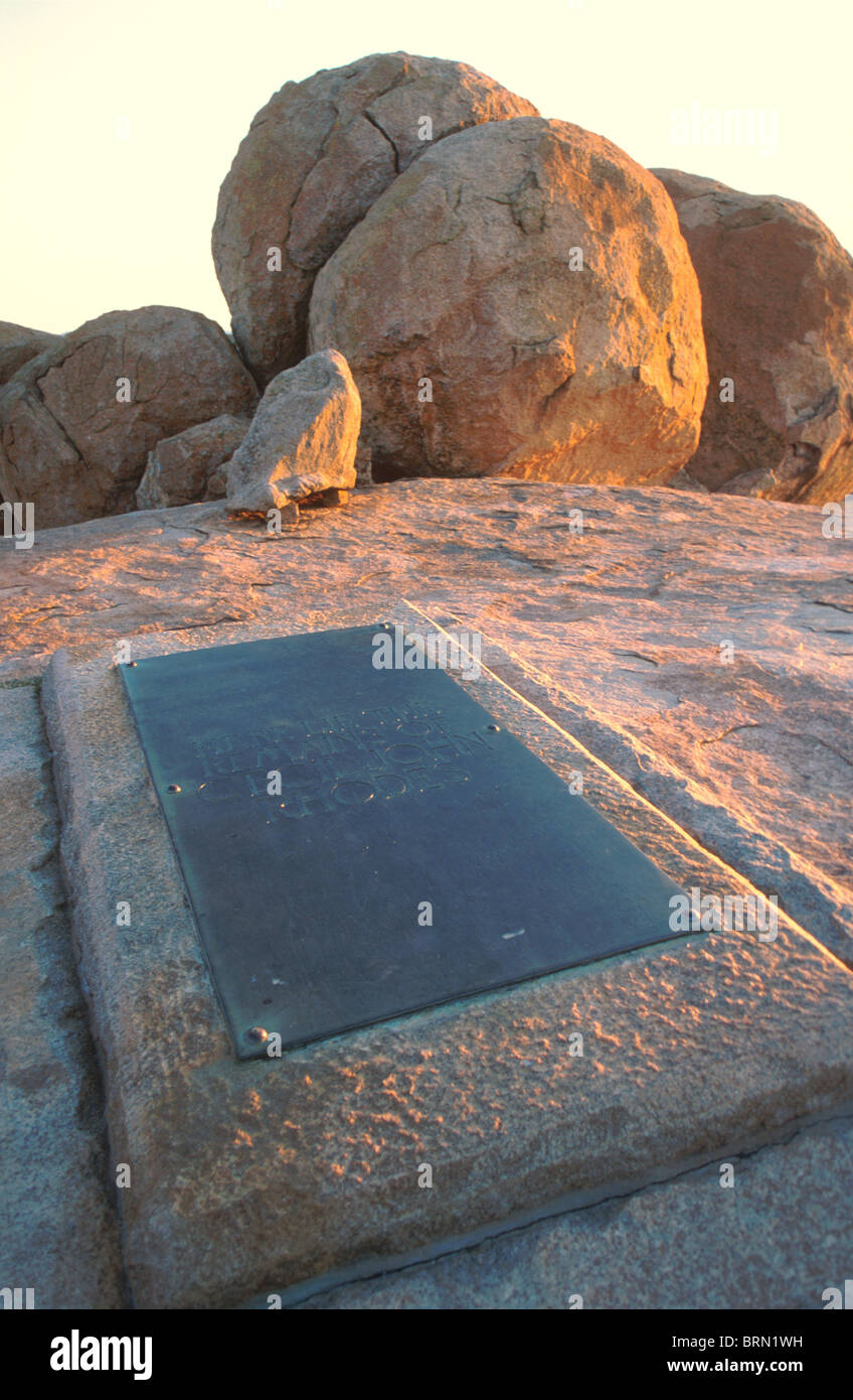 Grave of Cecil John Rhodes in the Matopos mountains - Stock Image