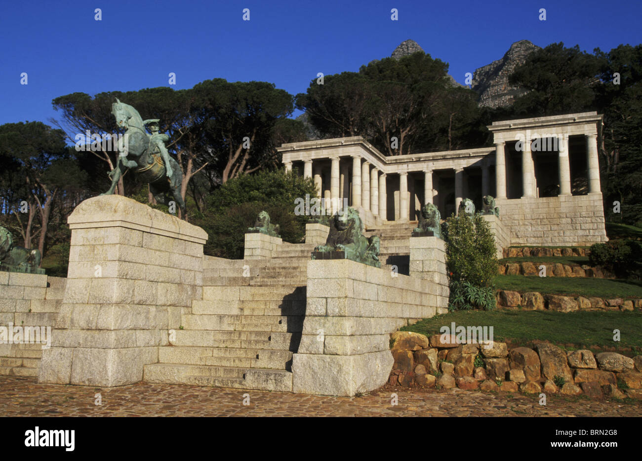Rhodes Memorial designed by Sir Herbert Baker as a tribute to Cecil John Rhodes - Stock Image