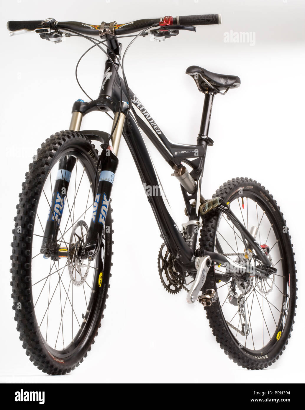 Dual suspension mountain bike - Stock Image