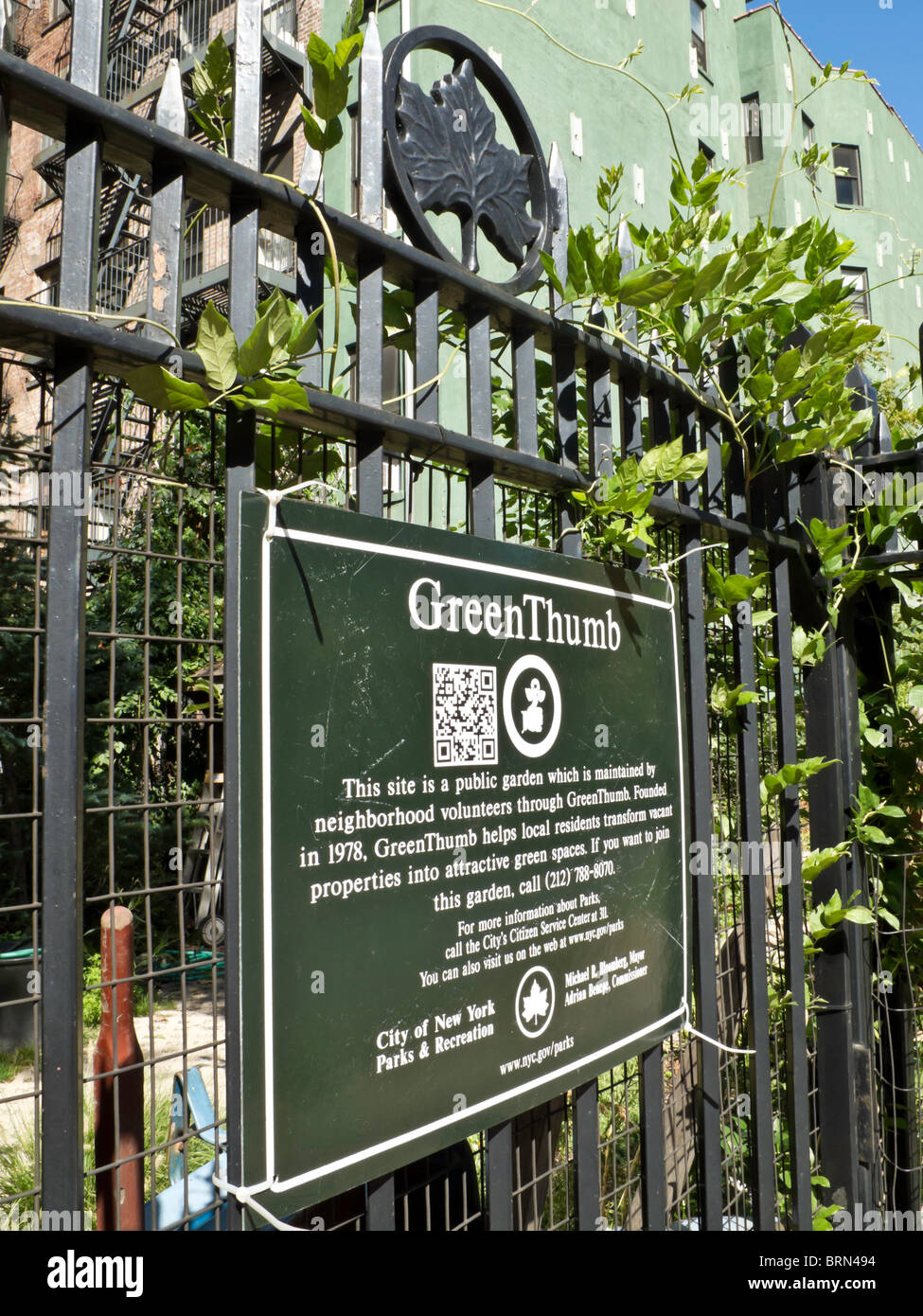 Green Thumb Urban Garden, NYC Stock Photo: 31811840 - Alamy