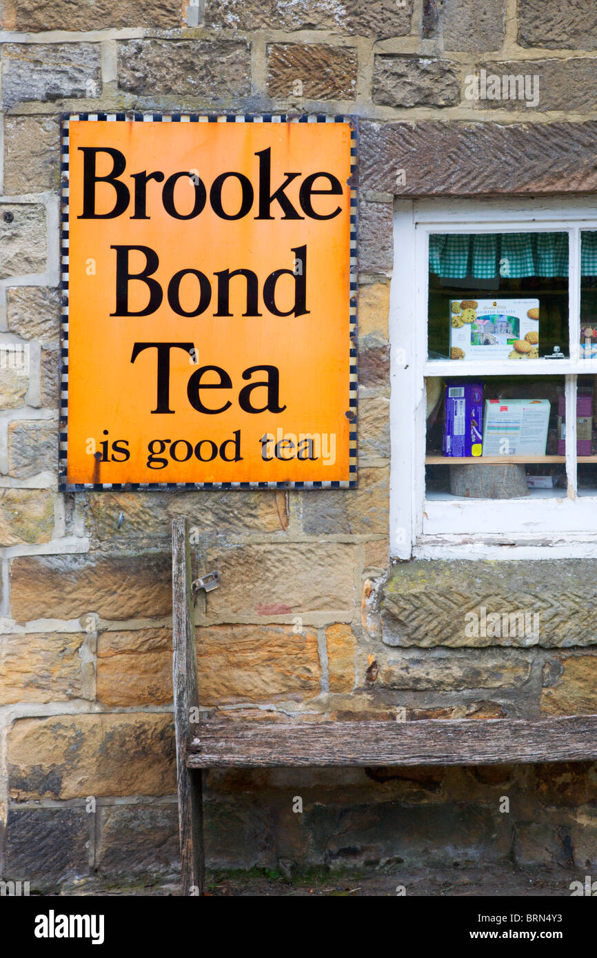 Old Brooke Bond Tea Sign at North Yorkshire England Stock