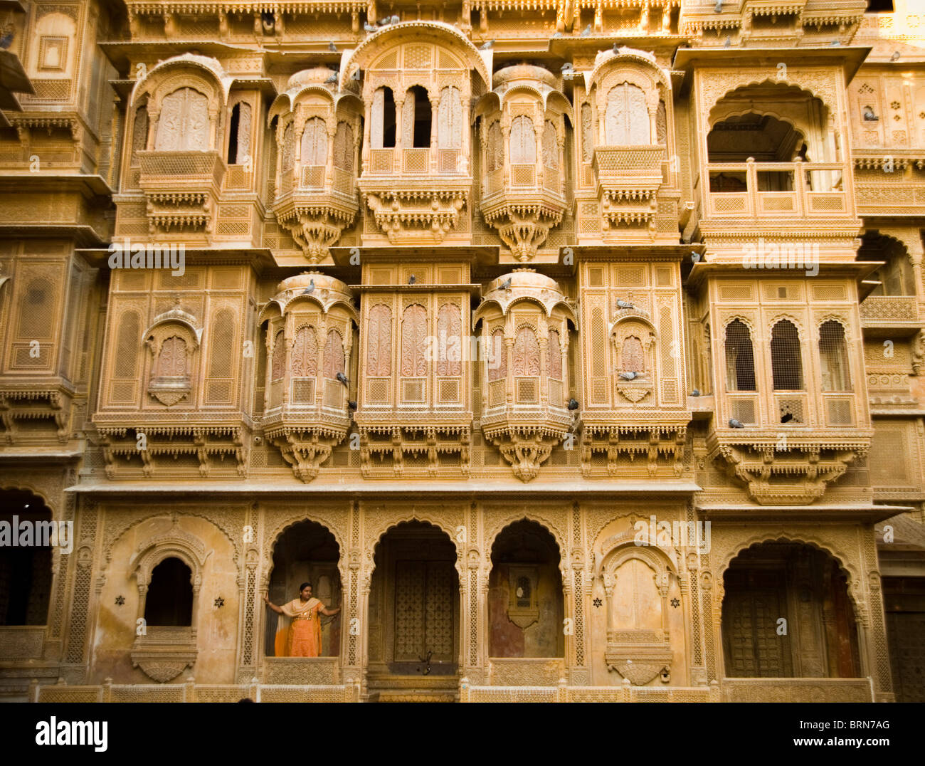 Patwon ki Haveli in Jaisalmer Rajasthan Stock Photo