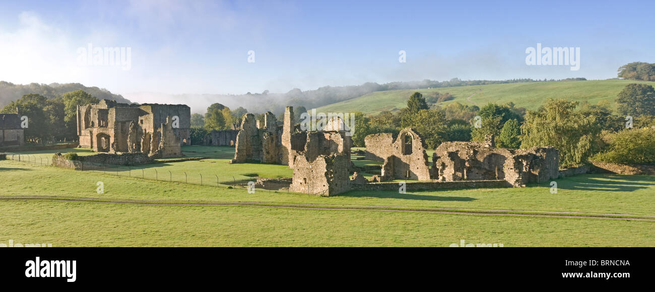 Easby Abbey near Richmond, North Yorkshire - Stock Image