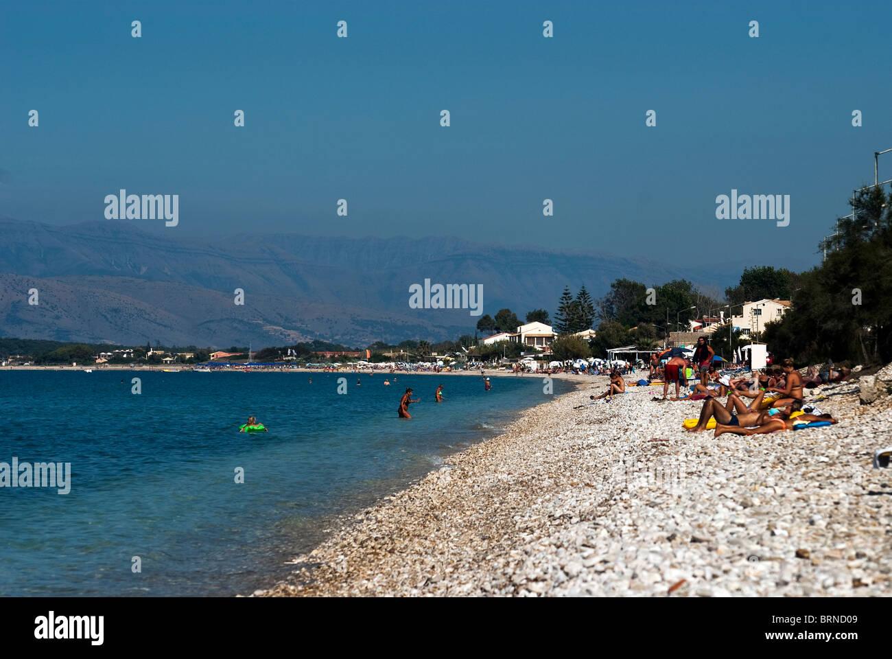 Acharavi Beach, Corfu, Ionian Islands Greece. - Stock Image