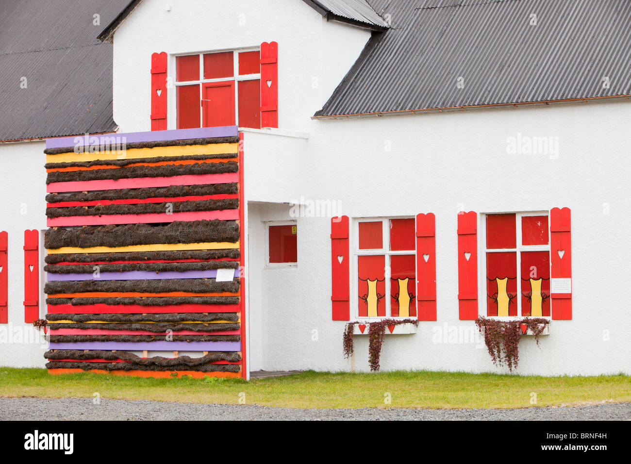 A childrens nursery in Hveragerdi in South West Iceland - Stock Image