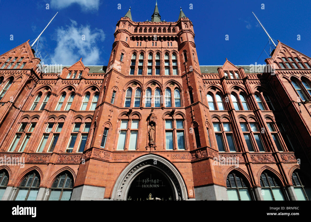 Holborn Bars, Prudential Assurance building, High Holborn, London, United Kingdom - Stock Image