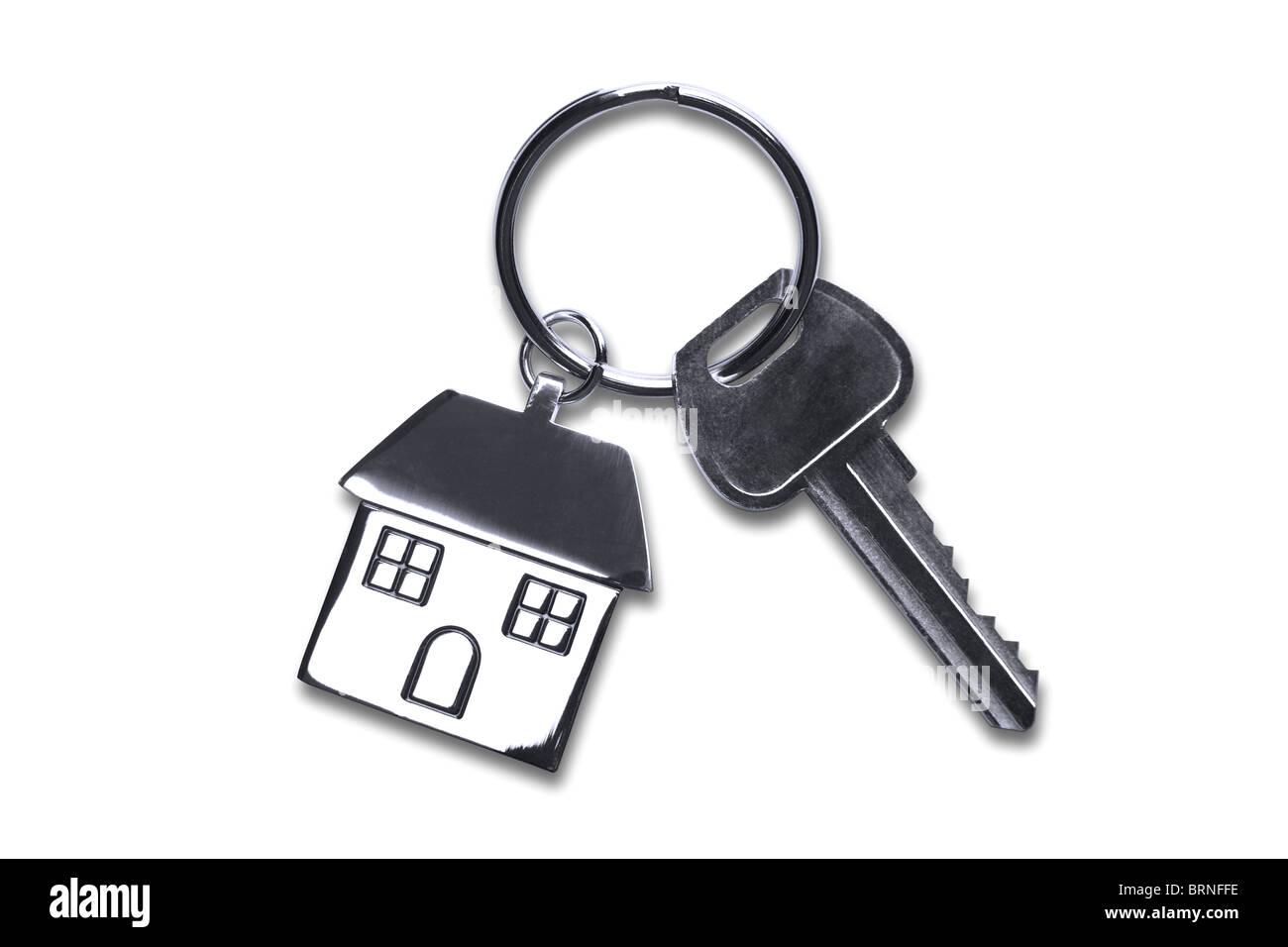Keys to a new house isolated on white with clipping path. - Stock Image