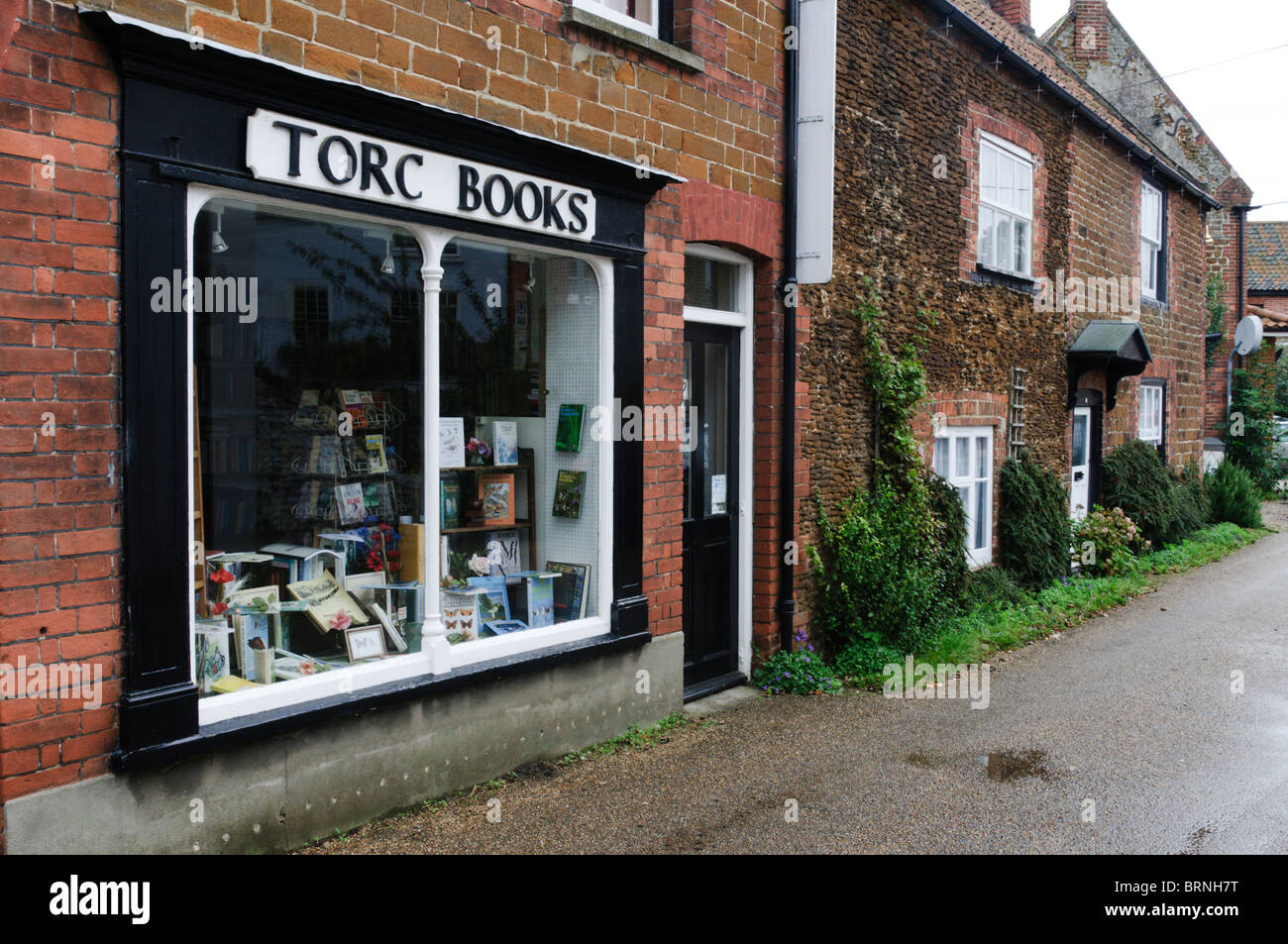 Torc Books, a small secondhand bookshop in the village of Snettisham, Norfolk - Stock Image