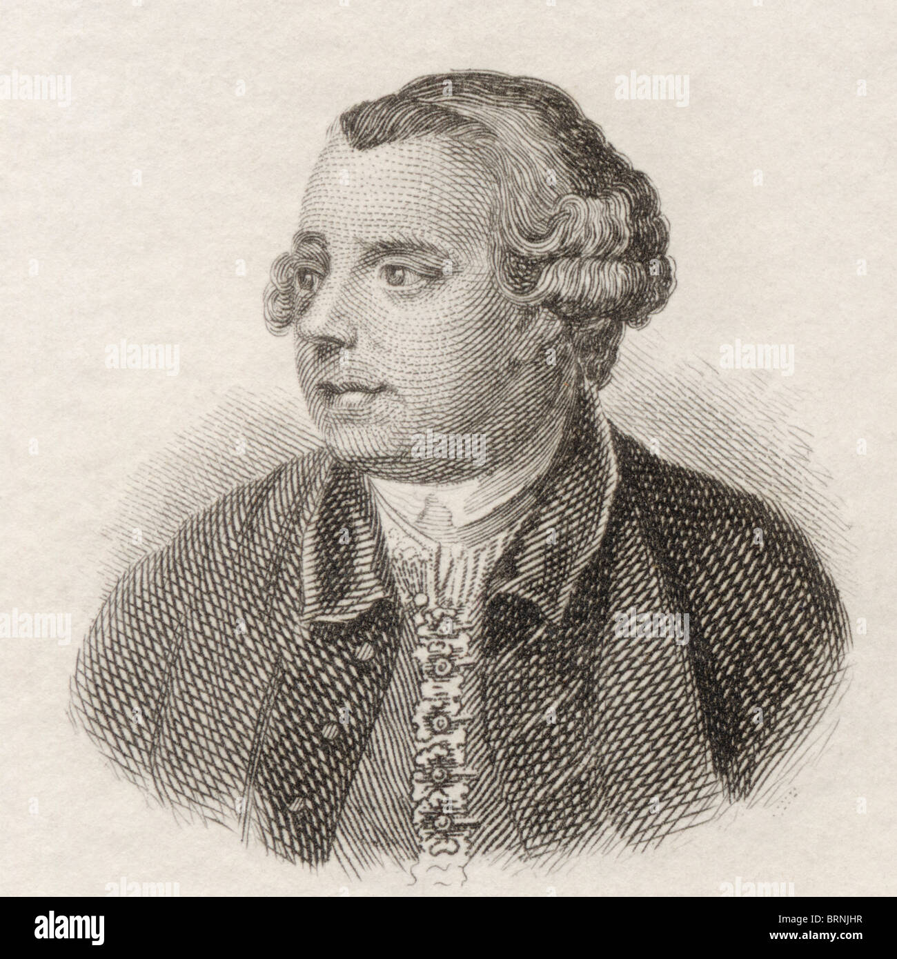 Edward Moore, 1712 to 1757. English dramatist and miscellaneous writer. - Stock Image