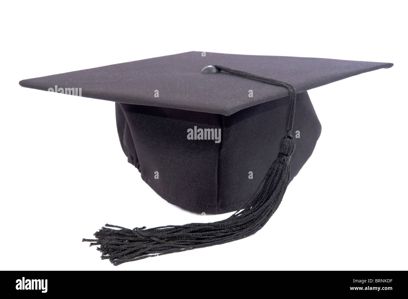 Student hat isolated on white - Stock Image