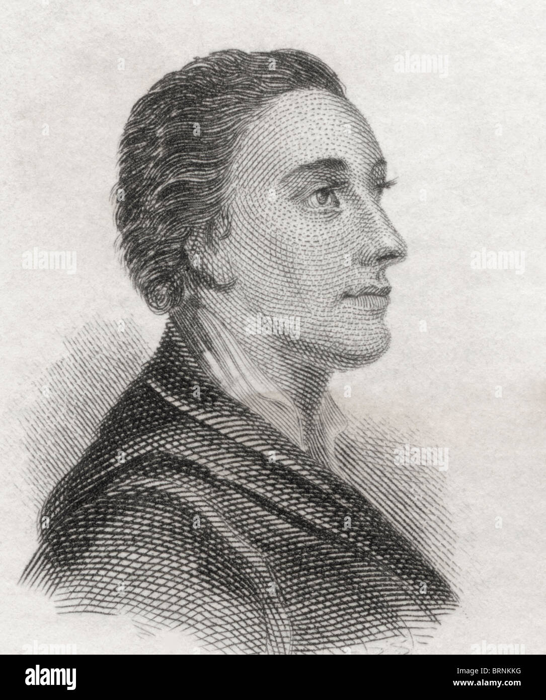 Mark Akenside 1721 to 1770. English poet and physician. - Stock Image