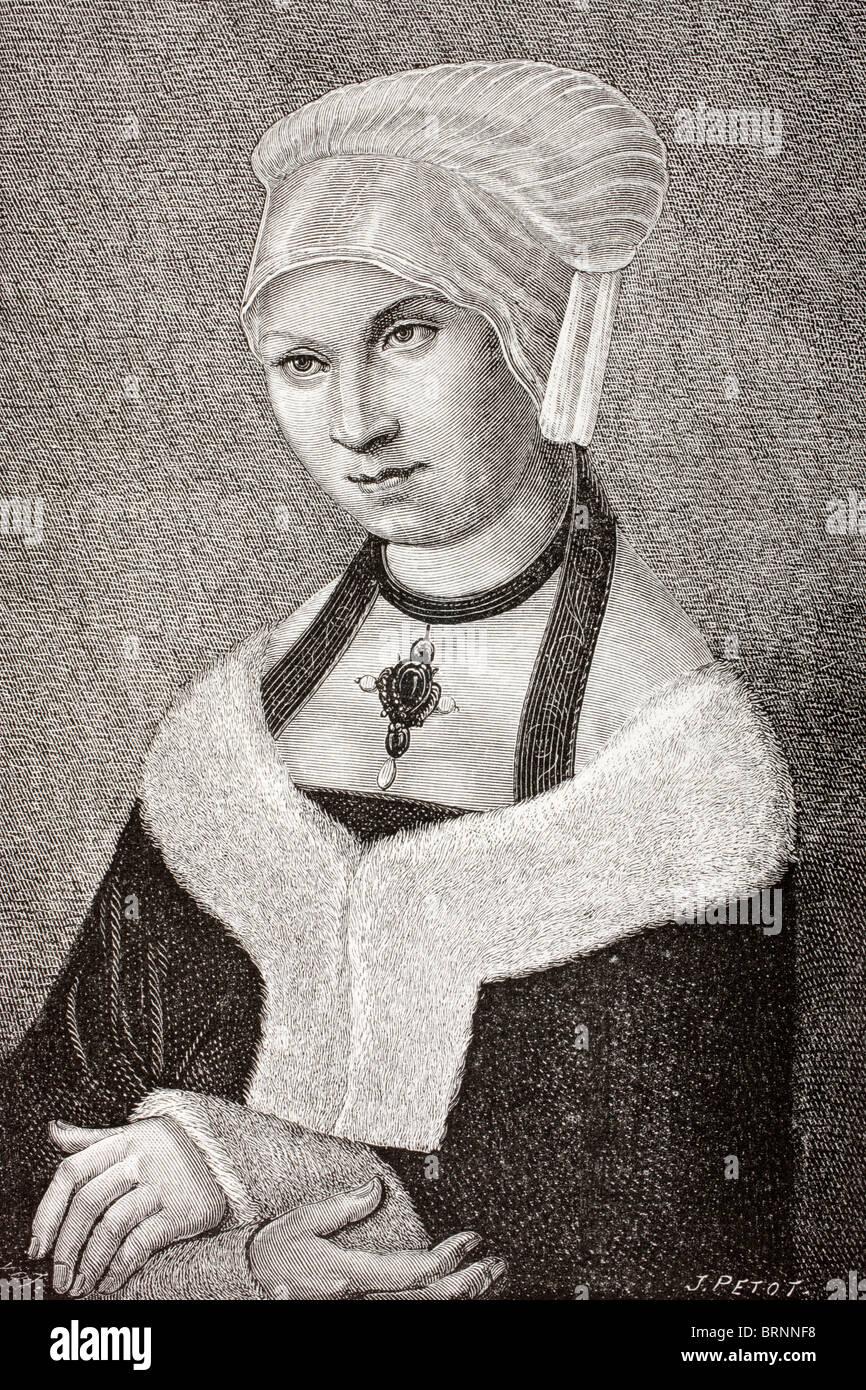 Barbara of Poland, 1478 - 1534. Princess of Poland and a duchess of Saxony. - Stock Image