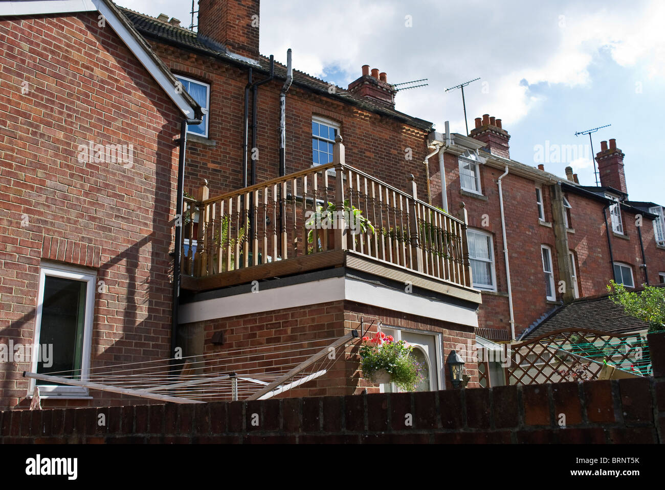 Small Roof Garden Behind Terraced House In Devizes UK