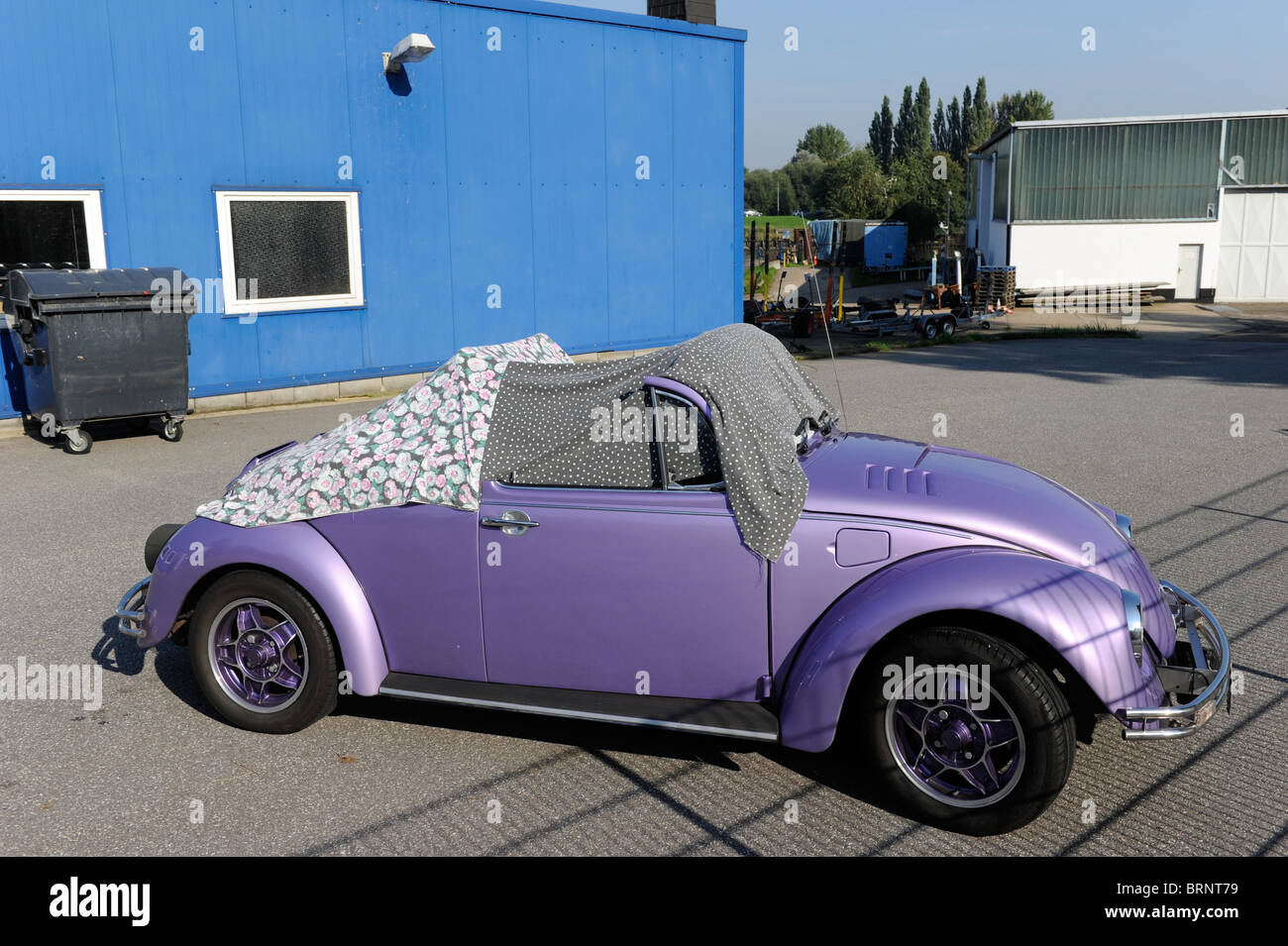 Germany Hamburg VW beetle cabriolet Volkswagen Kaefer cabrio - Stock Image