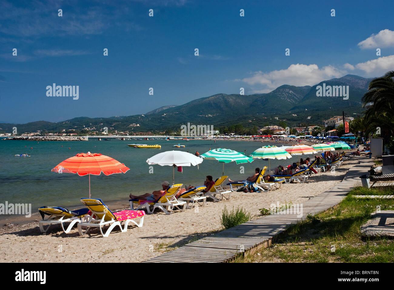 Roda Beach, Corfu, Ionian Islands Greece. - Stock Image