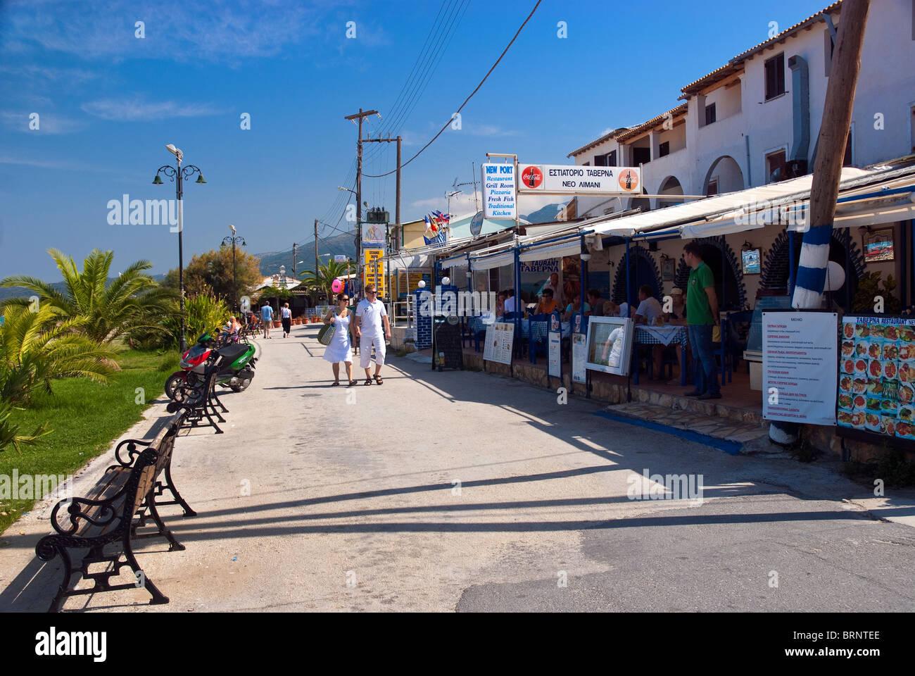 Roda Village, Corfu, Ionian Islands Greece. - Stock Image