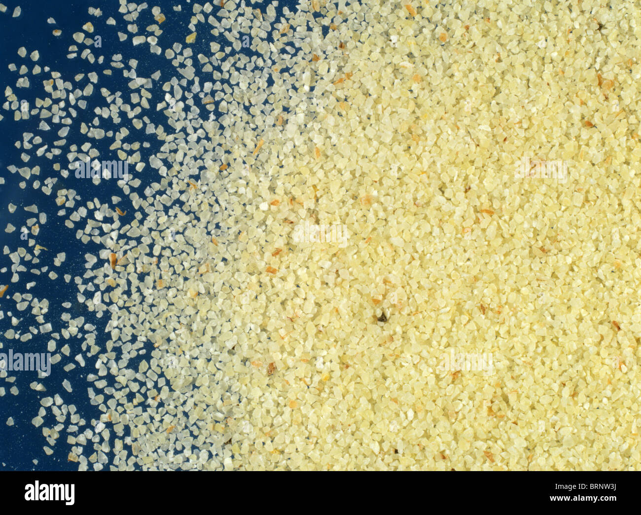 Wheat semolina (intermediate milling stage) - Stock Image