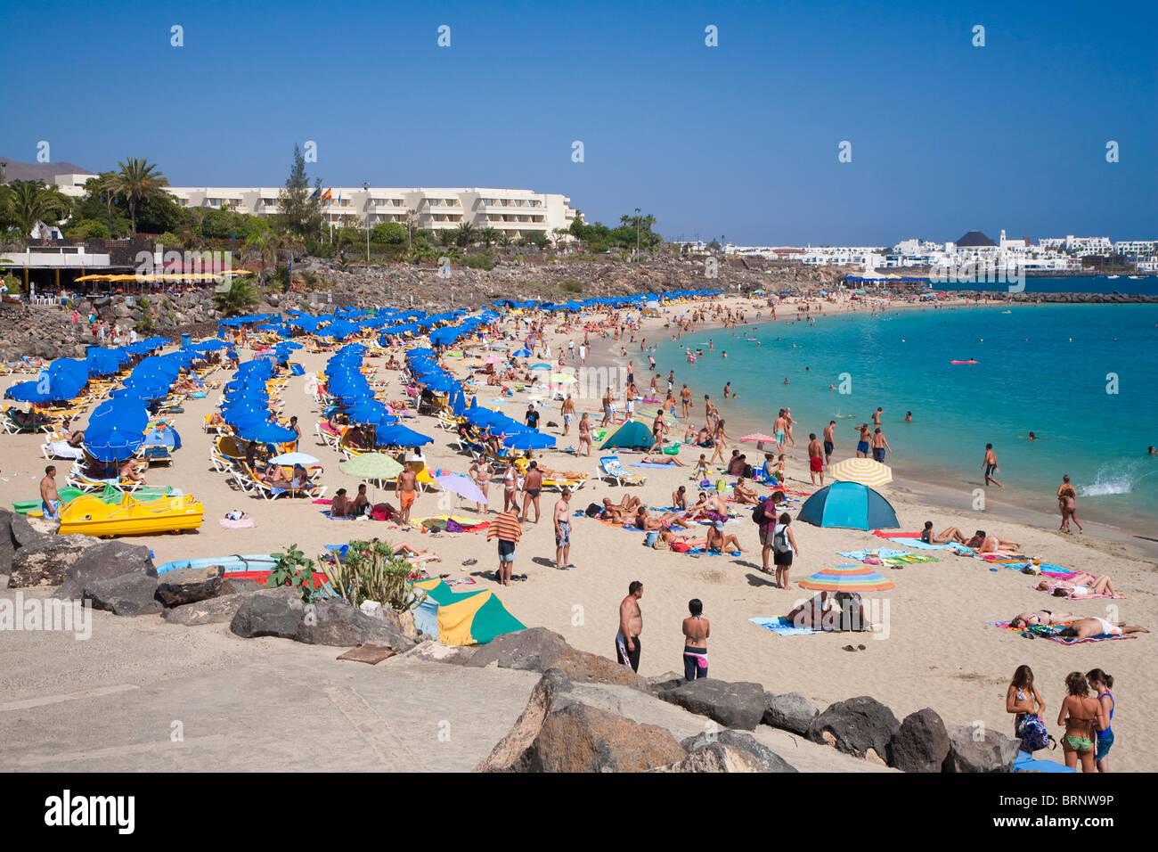Playa Dorada beach, Playa Blanca, Lanzarote - Stock Image