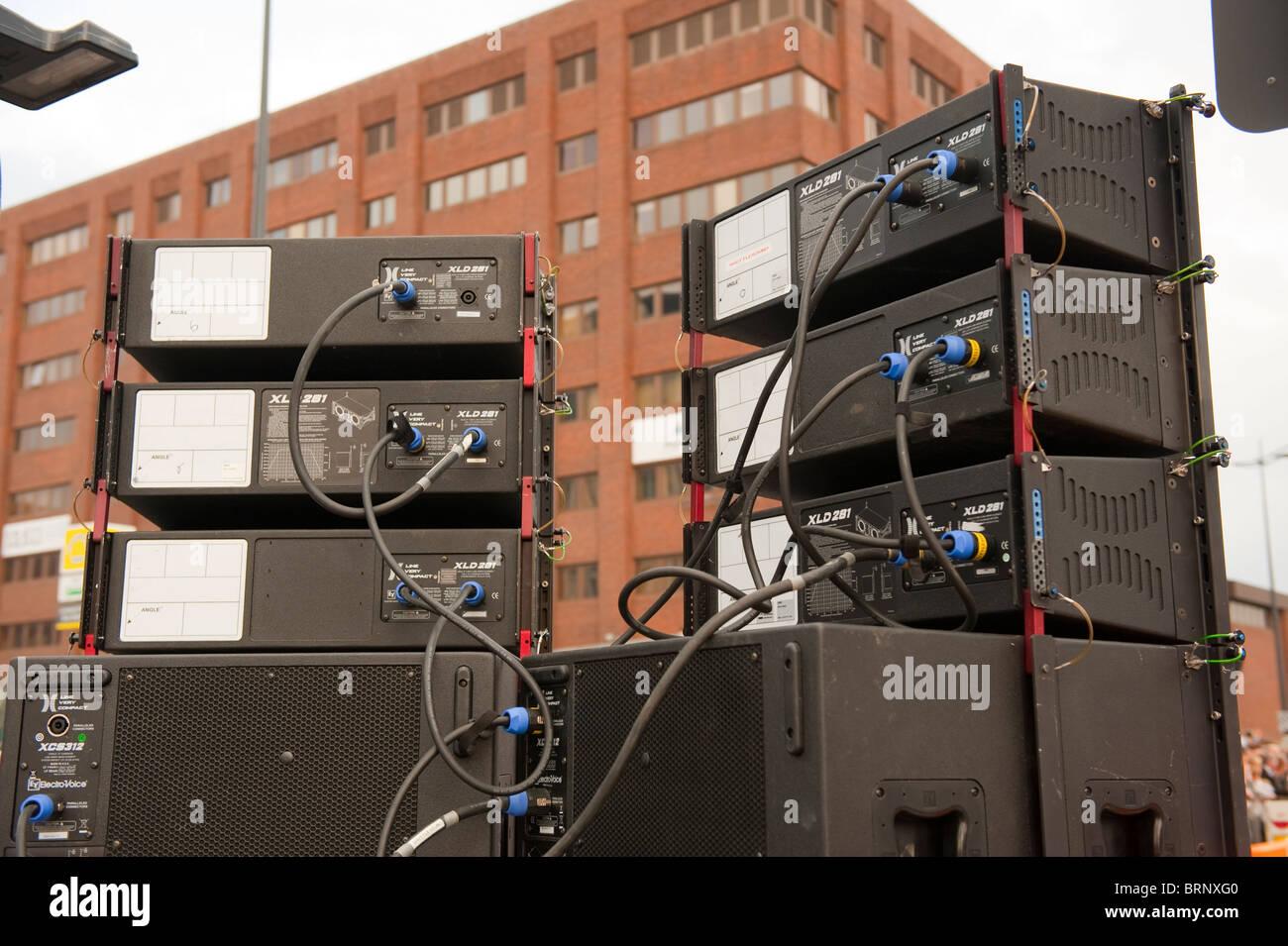 public pa speaker system stock photo 31829280 alamy rh alamy com pa system speaker wiring pa speaker wiring diagrams