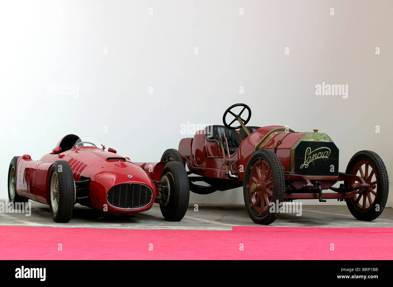 Lancia racing cars in the Museum in Turin - Stock Image