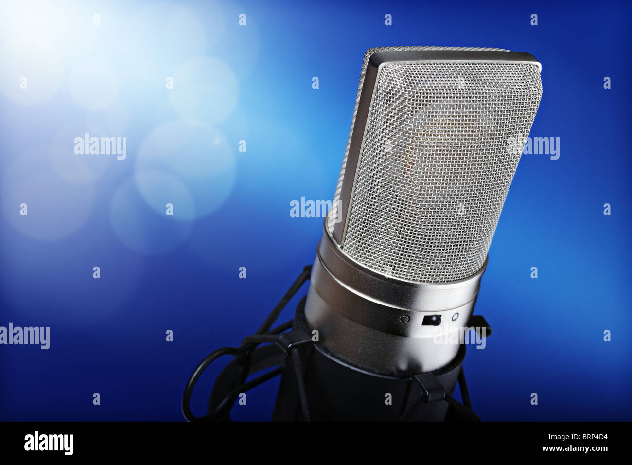 Microphone on stage - Stock Image