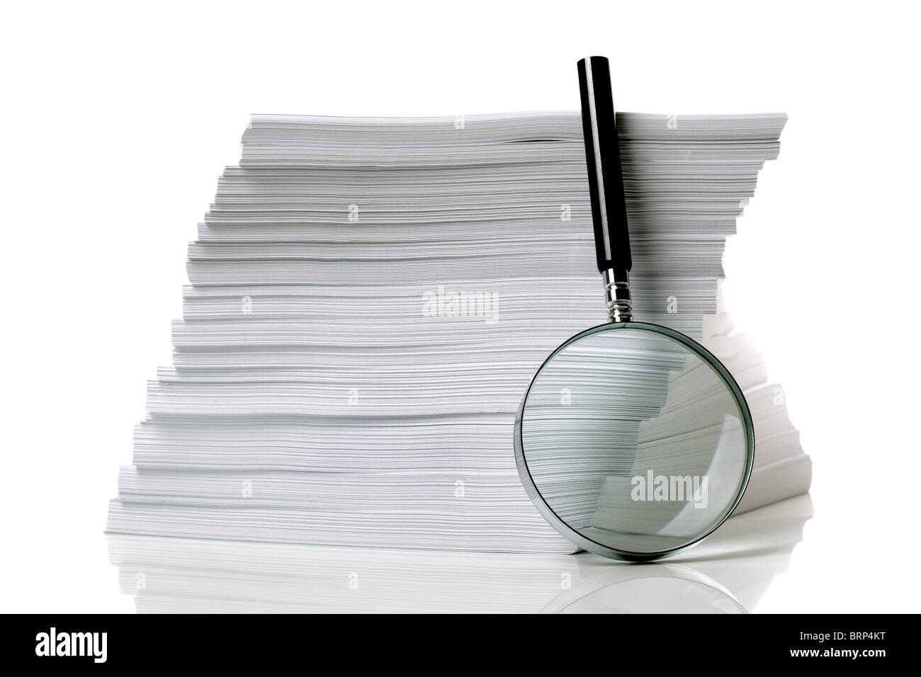Searching for document - Stock Image