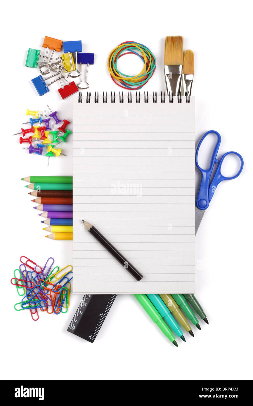 Office or student stationary - Stock Image