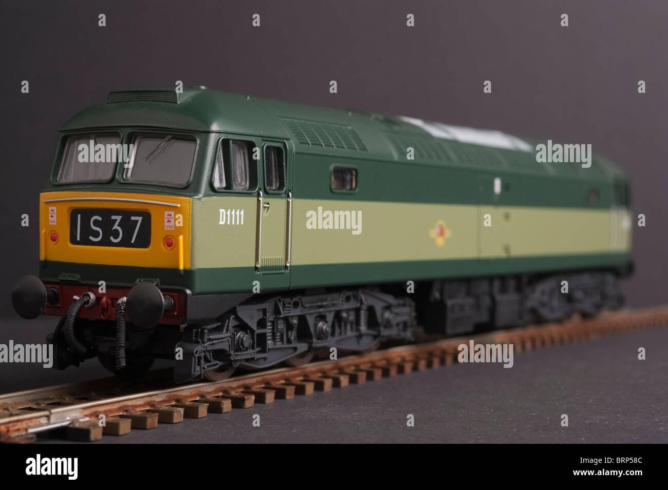Class 47 Diesel Locomotive, BR Two Tone Green livery - Stock Image