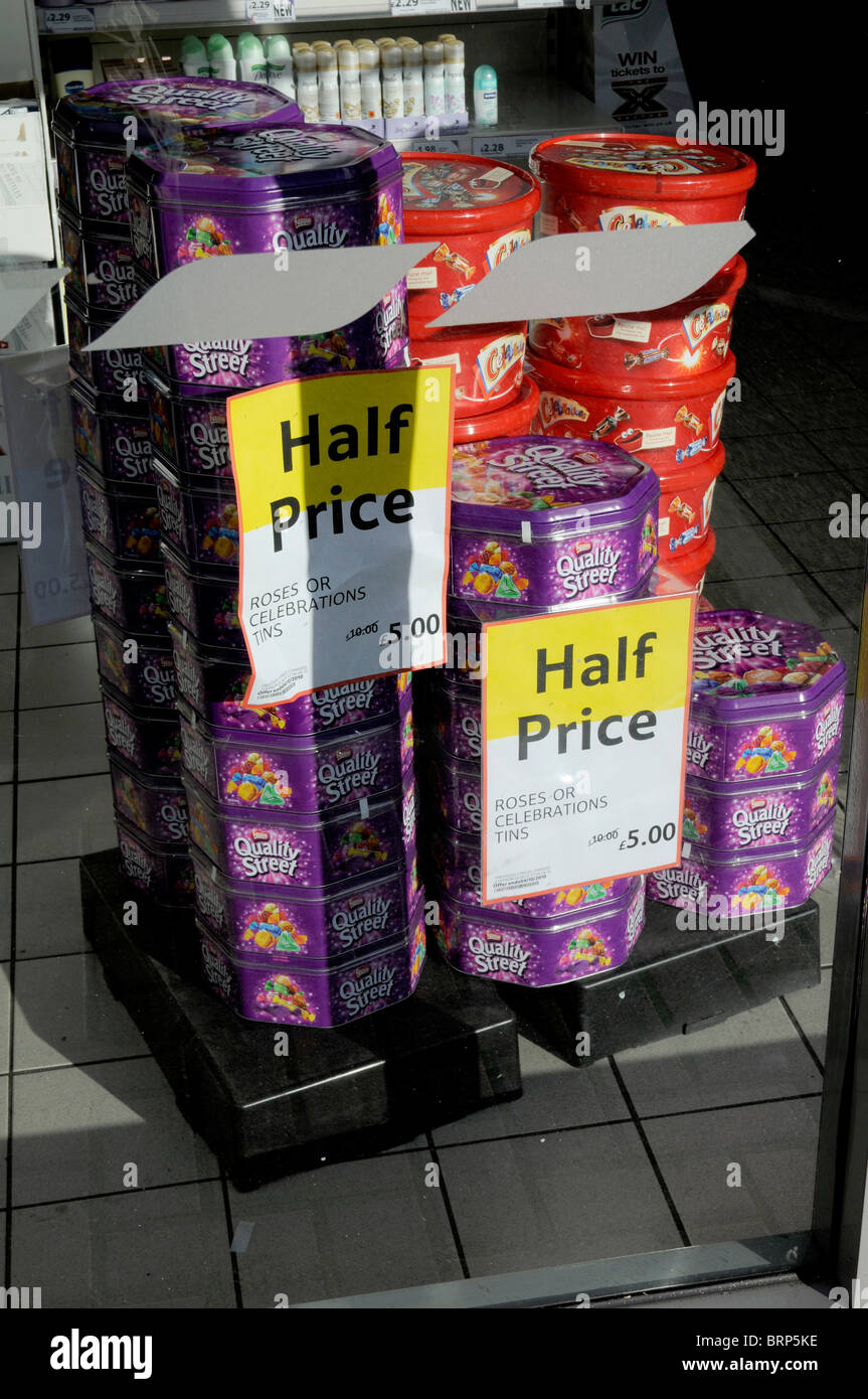 Cheap Chocolate Offer At Tesco Express In London Stock Photo