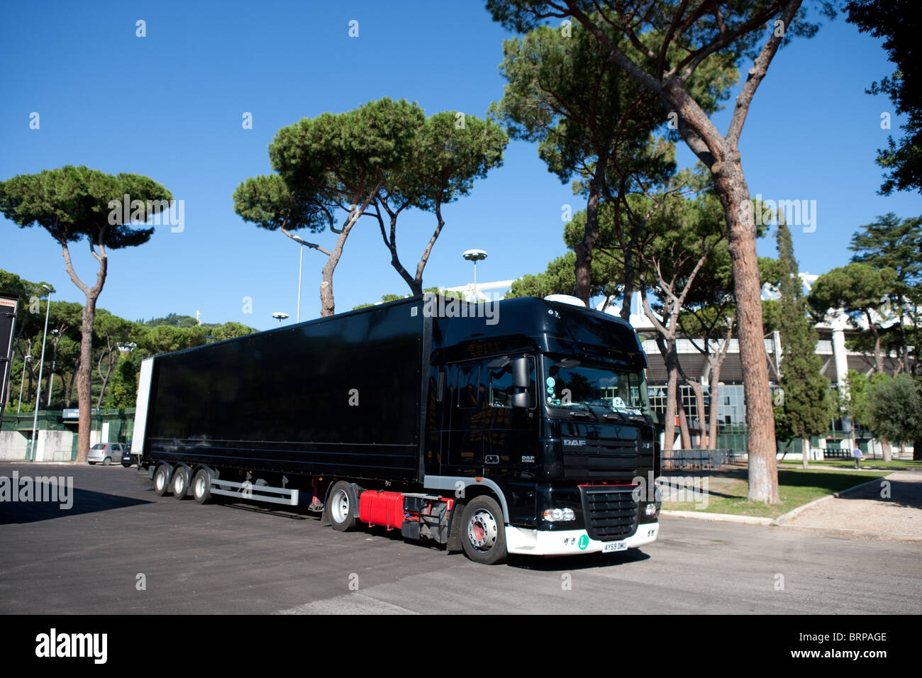 U2 truck lorry with trailer live concert 360 tour - Stock Image