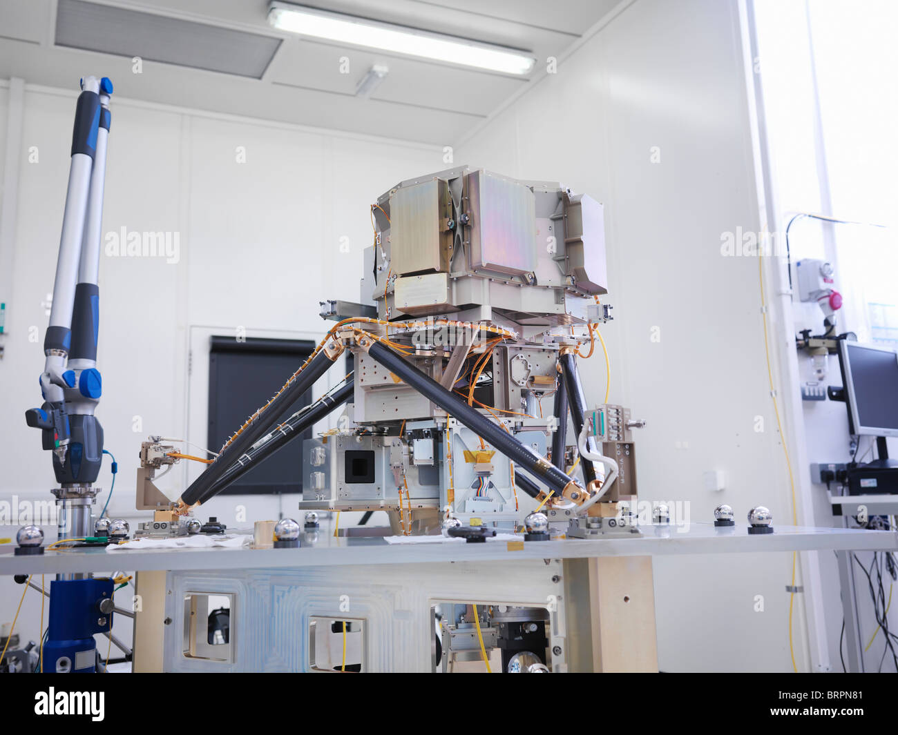 Part of satellite during assembly - Stock Image