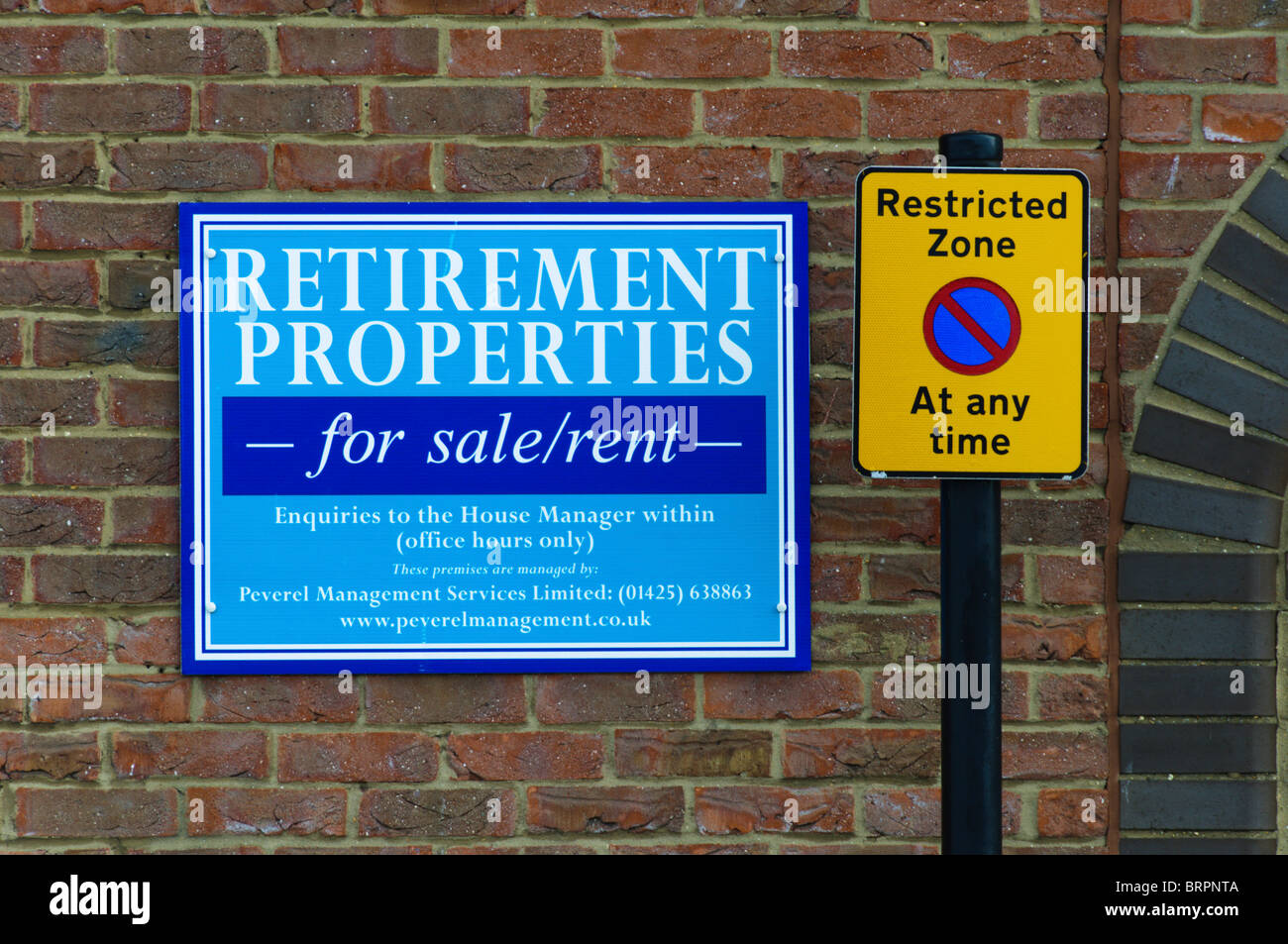 A sign for Retirement Properties - Stock Image