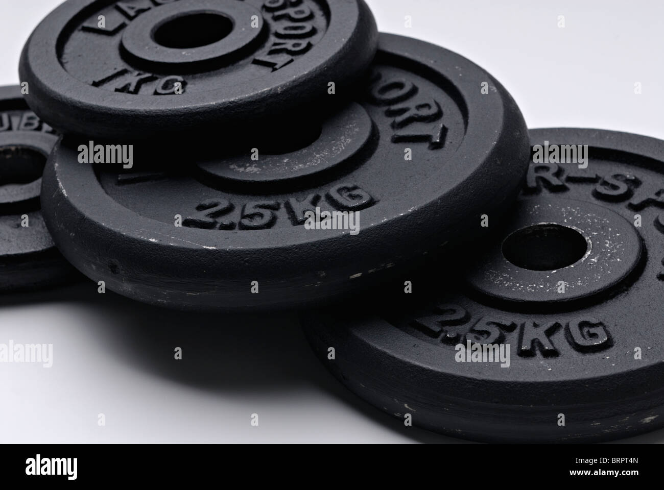 Barbell and plates - Stock Image