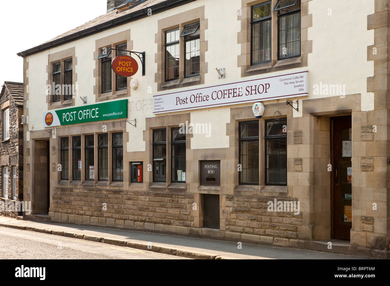 The Post Office and Post Office Coffee Shop in Sedbergh, Cumbria - Stock Image