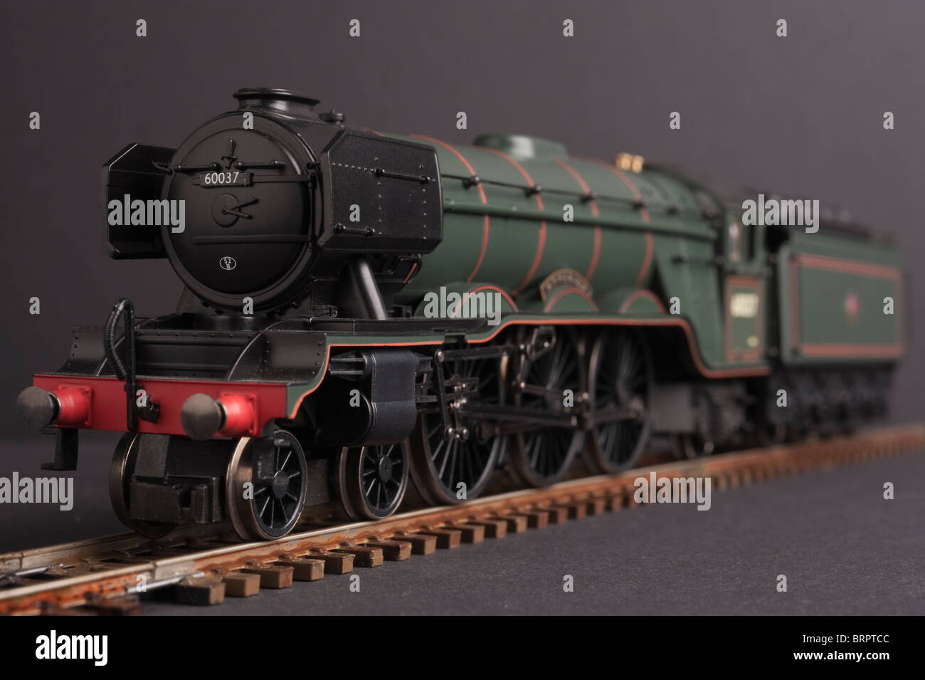 Pacific Class A3 Locomotive, Hyperion, BR Green, ex LNER - Stock Image