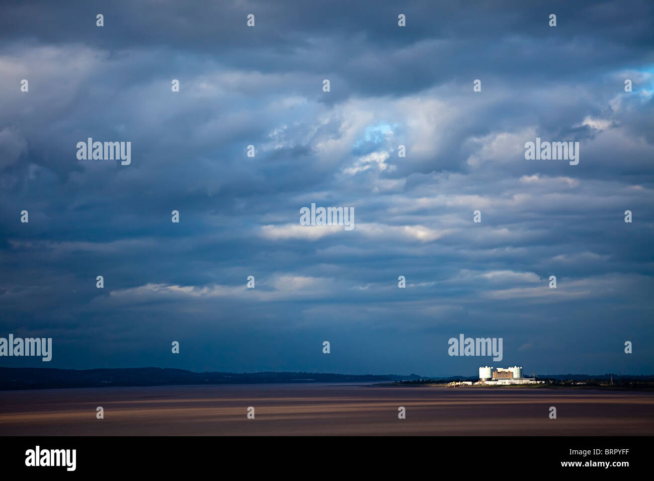 Oldbury Nuclear Power Station Severn Estuary England UK - Stock Image
