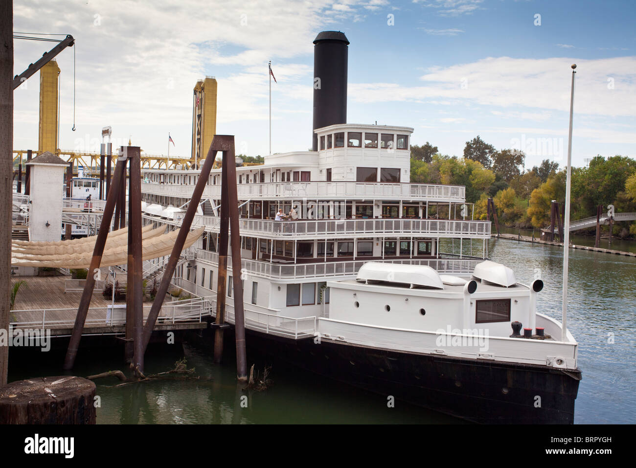 The Delta King Restaurant and Hotel at Old Town Sacramento California - Stock Image