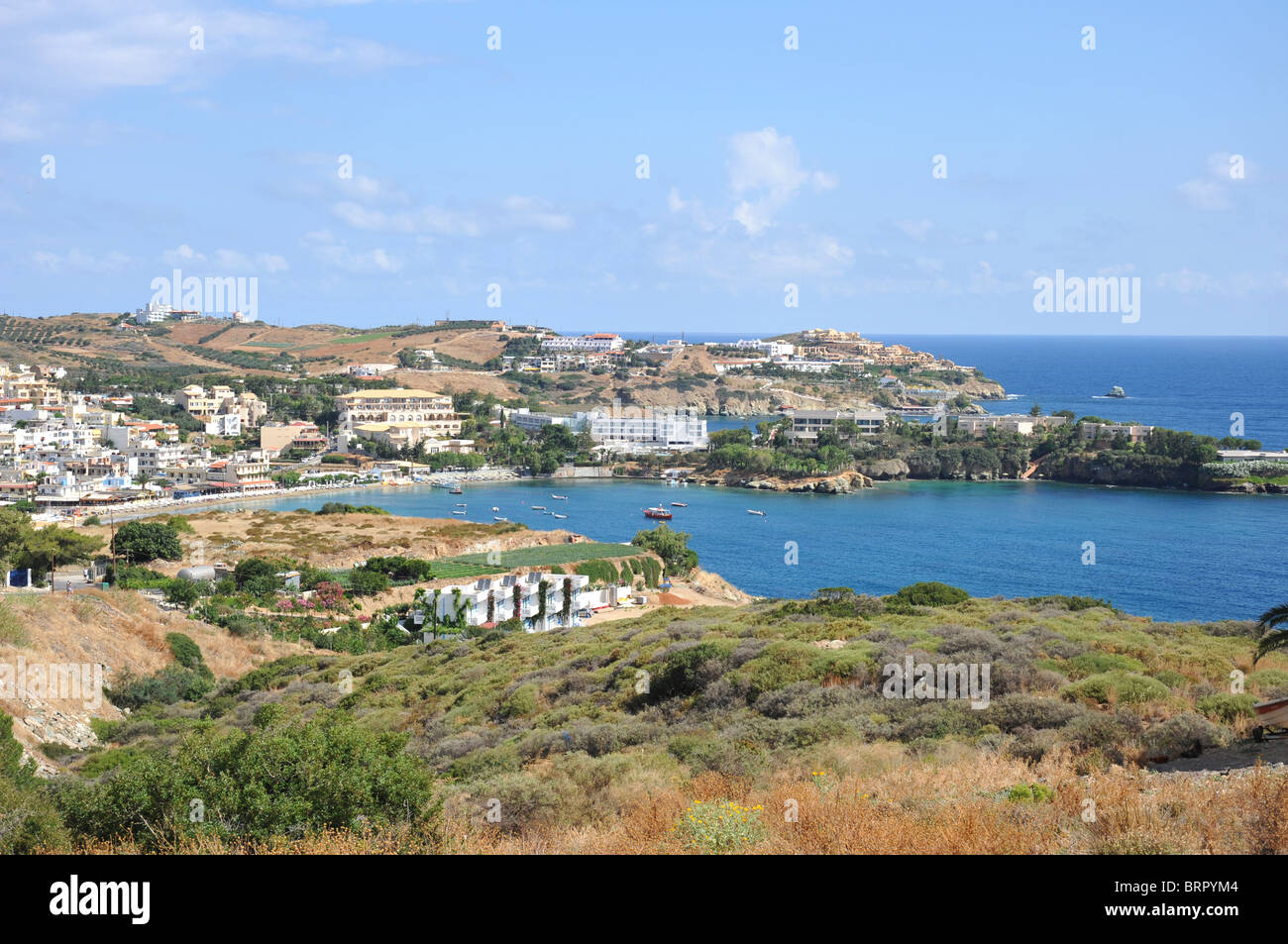 The bay at Agia Pelagia in Crete, Greece - Stock Image