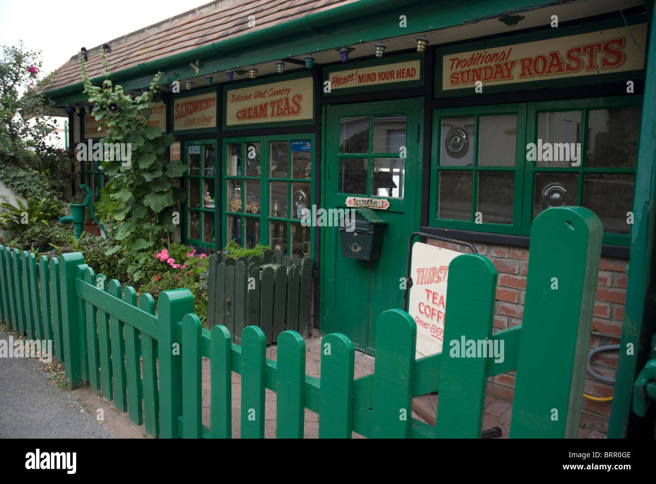 tearooms and gardens;weston super mare;somerset Stock Photo