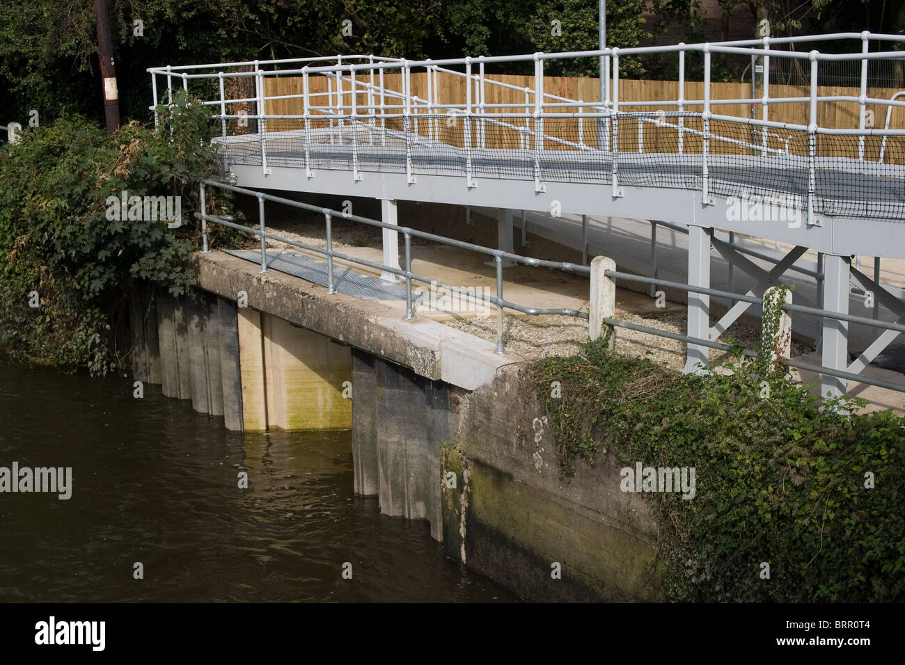 cover new fish elver pass disabled cyclist access - Stock Image