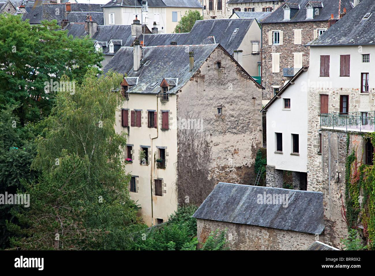 Houses in Donzenac Corrèze France - Stock Image