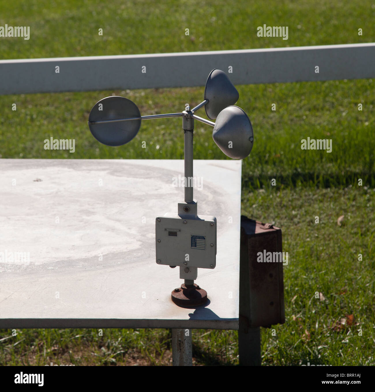 Equipment for measuring wind speed - Stock Image
