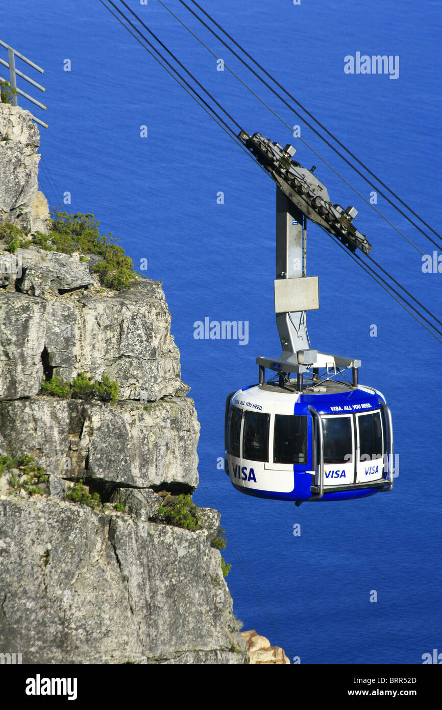 Table Mountain cableway - Stock Image