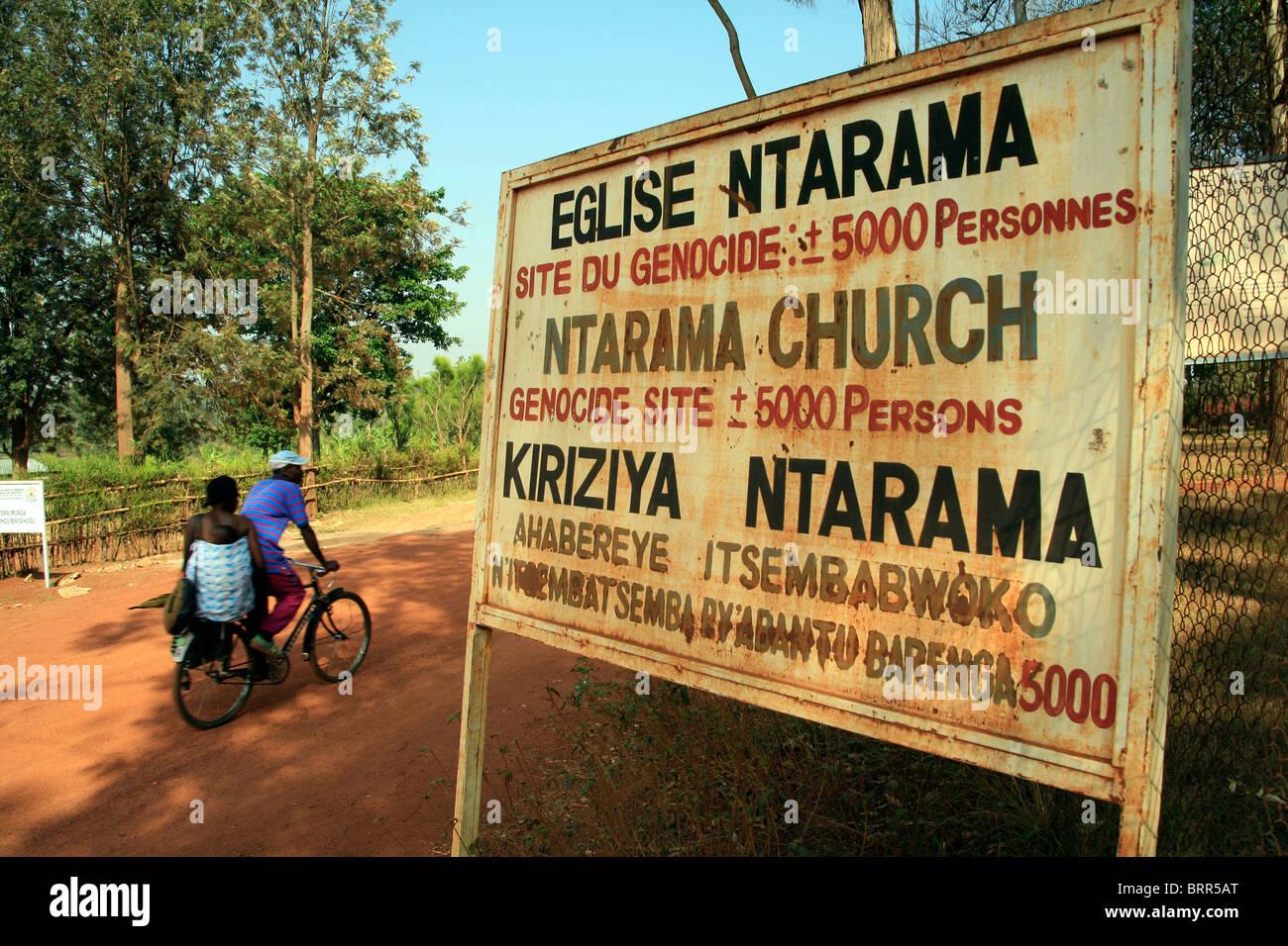Ntarama Church where 5000 people were killed during the 1994 genocide in Rwanda - Stock Image