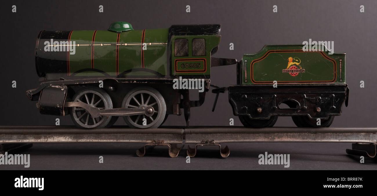 Tinplate Hornby 0 Gauge Train, circa 1950s - Stock Image